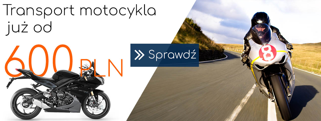 Transport motocykla z Anglii do Polski